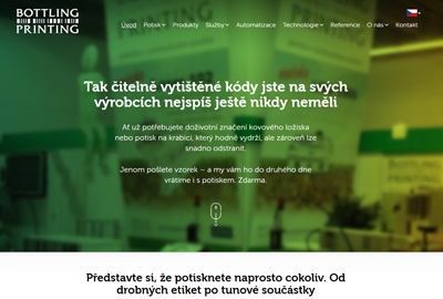 Bottling Printing – strategický redesign webu