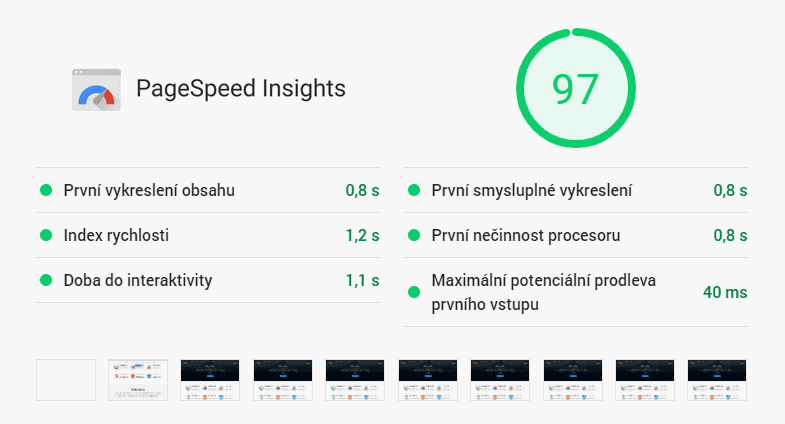 PageSpeed Insights score 97